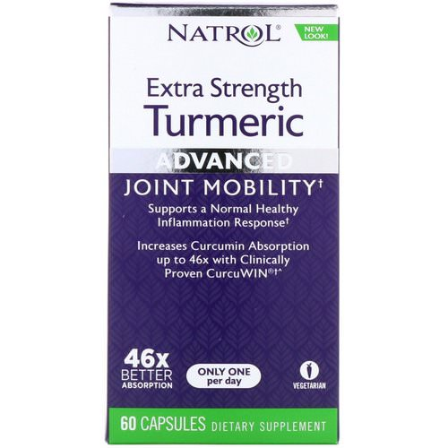 Natrol, Extra Strength Turmeric, Advanced, 60 Capsules Review