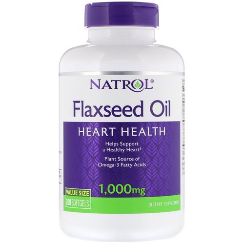 Natrol, Flaxseed Oil, Heart Health, 1,000 mg, 200 Softgels Review