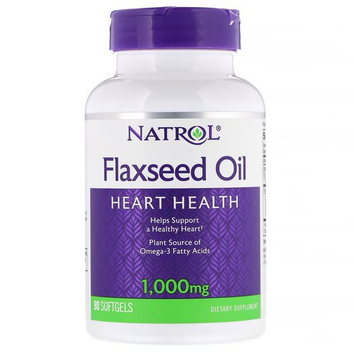 Natrol, Flaxseed Oil, Heart Health, 1,000 mg, 90 Softgels Review