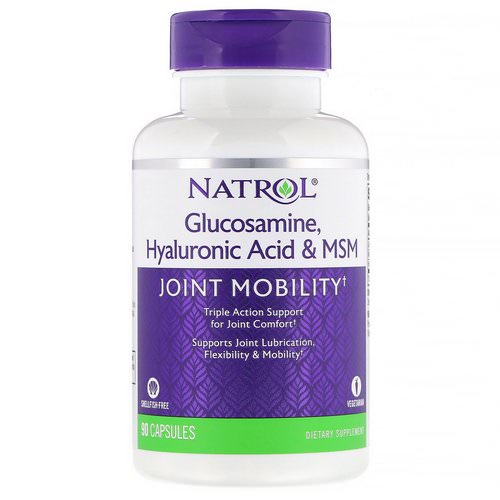Natrol, Glucosamine, Hyaluronic Acid & MSM, 90 Capsules Review