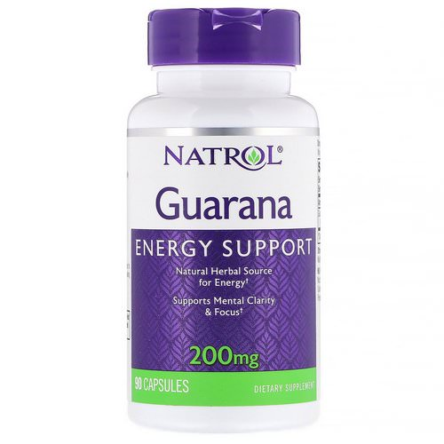Natrol, Guarana, 200 mg, 90 Capsules Review