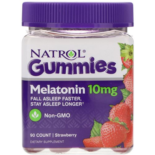 Natrol, Gummies, Melatonin, Strawberry, 10 mg, 90 Count Review
