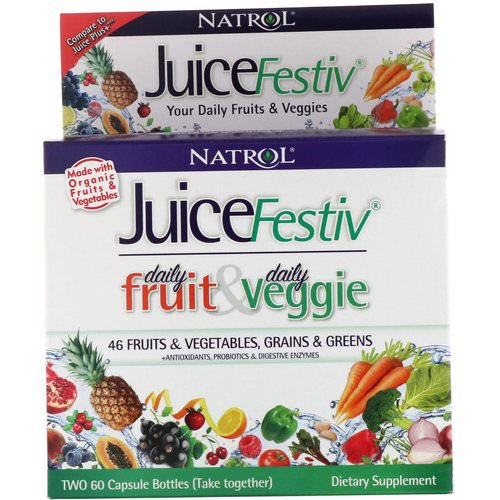 Natrol, JuiceFestiv, 2 Bottles, 60 Capsules Each Review
