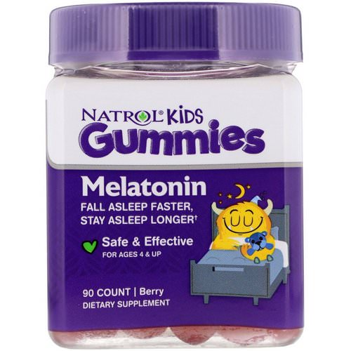 Natrol, Kids, Melatonin Gummies, Berry, 90 Gummies Review