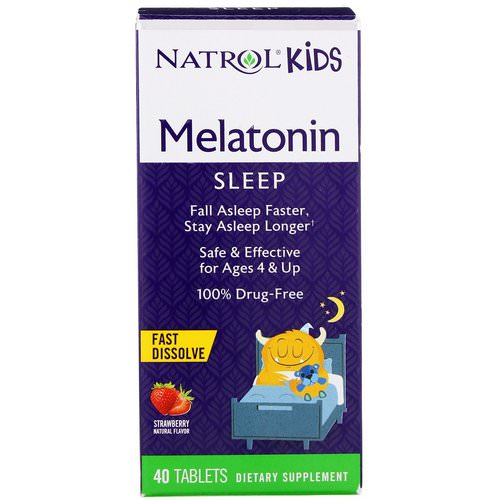 Natrol, Kids, Melatonin, Strawberry Natural Flavor, 40 Tablets Review