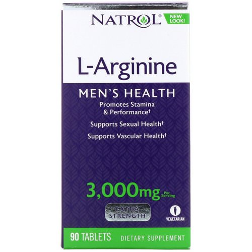 Natrol, L-Arginine, Extra Strength, 3,000 mg, 90 Tablets Review