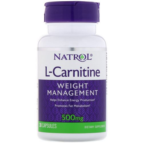 Natrol, L-Carnitine, 500 mg, 30 Capsules Review