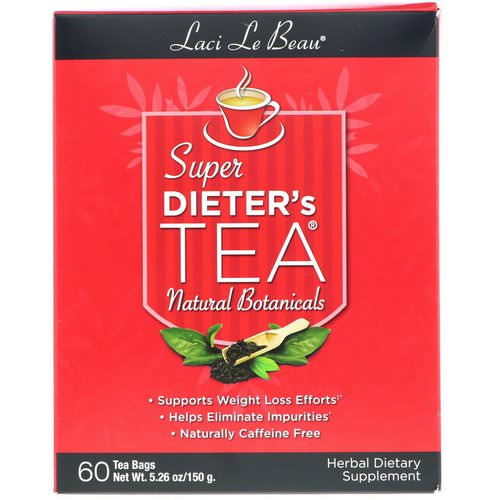 Natrol, Laci Le Beau, Super Dieter's Tea, Natural Botanicals, 60 Tea Bags, 5.26 oz (150 g) Review