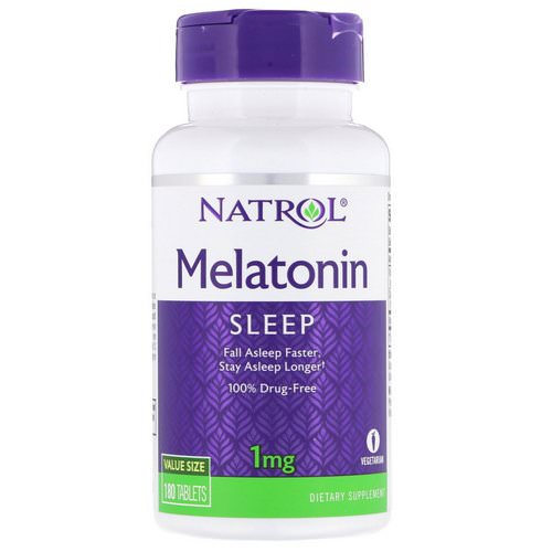 Natrol, Melatonin, 1 mg, 180 Tablets Review