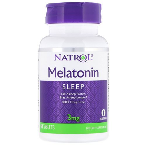 Natrol, Melatonin, 3 mg, 60 Tablets Review
