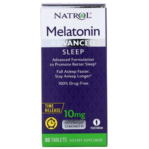 Natrol, Melatonin, Advanced Sleep, Time Release, 10 mg, 60 Tablets Review