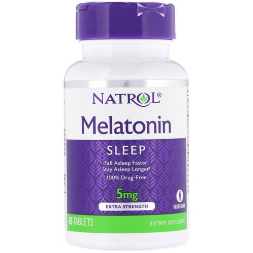 Natrol, Melatonin, Extra Strength, 5 mg, 60 Tablets Review