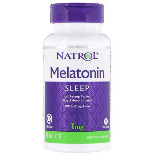 Natrol, Melatonin, Time Release, 1 mg, 90 Tablets Review