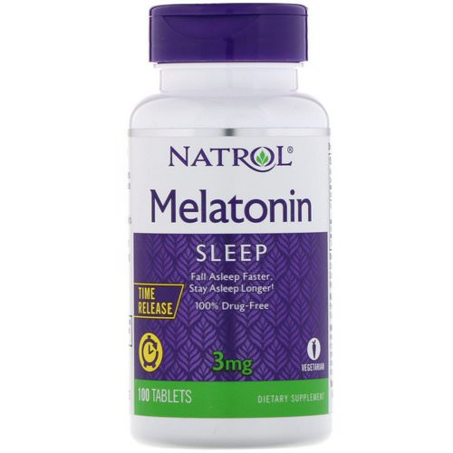 Natrol, Melatonin, Time Release, 3 mg, 100 Tablets Review