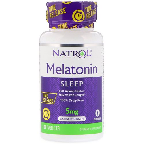 Natrol, Melatonin, Time Release, Extra Strength, 5 mg, 100 Tablets Review