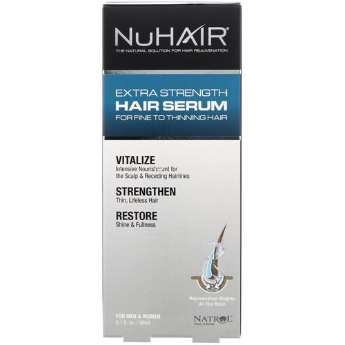 Natrol, NuHair, Extra Strength Hair Serum, For Men & Women, 3.1 fl oz (90 ml) Review