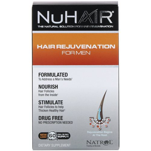 Natrol, NuHair, Hair Rejuvenation for Men, 60 Tablets Review
