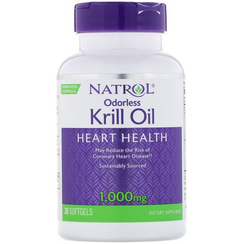 Natrol, Odorless Krill Oil, 1,000 mg, 30 Softgels Review