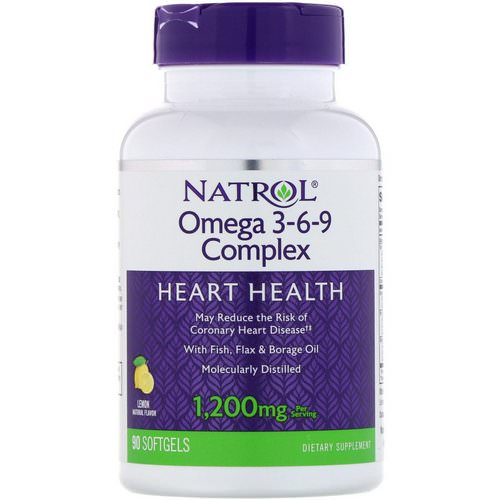 Natrol, Omega 3-6-9 Complex, Lemon, 1,200 mg, 90 Softgels Review