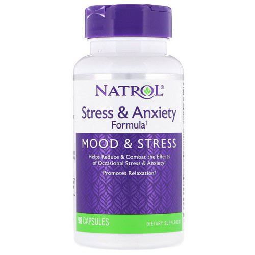 Natrol, Stress & Anxiety Formula, 90 Capsules Review