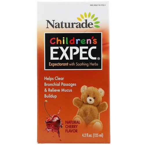 Naturade, Children's EXPEC, Herbal Expectorant, Natural Cherry Flavor, 4.2 fl oz (125 ml) Review