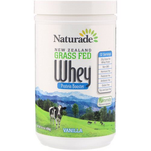 Naturade, New Zealand Grass Fed Whey Protein Booster, Vanilla, 16.1 oz (456 g) Review
