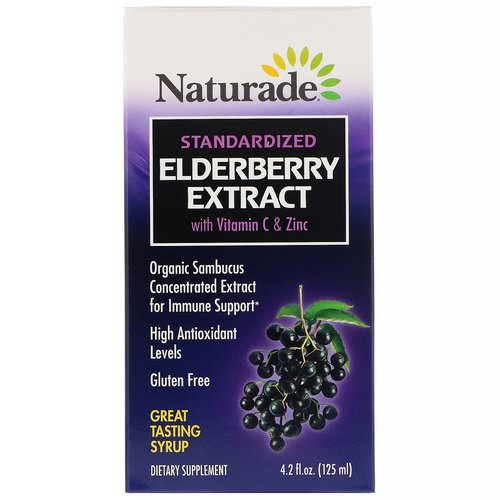 Naturade, Standardized Elderberry Extract Syrup with Vitamin C & Zinc, 4.2 fl oz (125 ml) Review