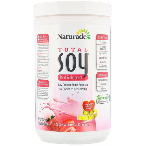 Naturade, Total Soy, Meal Replacement, Strawberry Cream, 1.1 lbs (507 g) Review