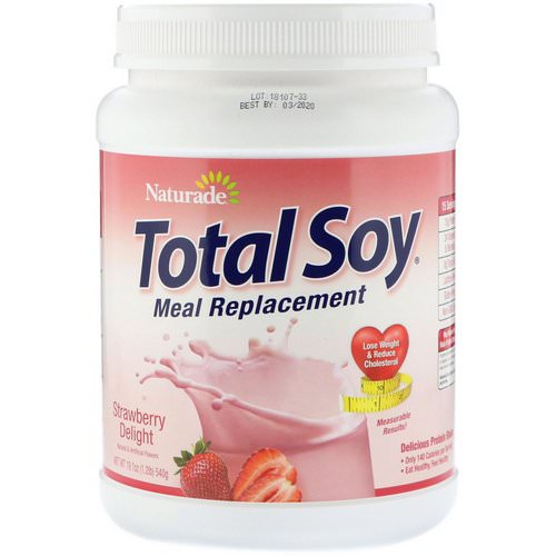 Naturade, Total Soy, Meal Replacement, Strawberry Delight, 1.2 lbs (540 g) Review