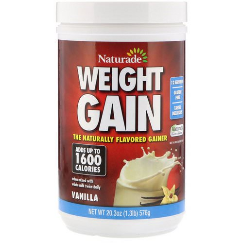 Naturade, Weight Gain, Vanilla, 1.3 lbs (576 g) Review