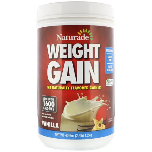 Naturade, Weight Gain, Vanilla, 2.5 lbs (40.6 oz) Review
