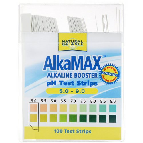 Natural Balance, AlkaMax, Alkaline Booster pH Test Strips, 100 Test Strips Review