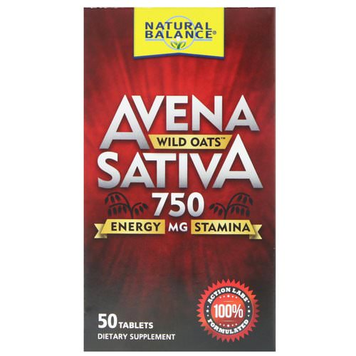 Natural Balance, Avena Sativa, Wild Oats, 750 mg, 50 Tablets Review