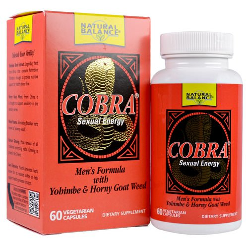 Natural Balance, Cobra, Sexual Energy, 60 Vegetarian Capsules Review