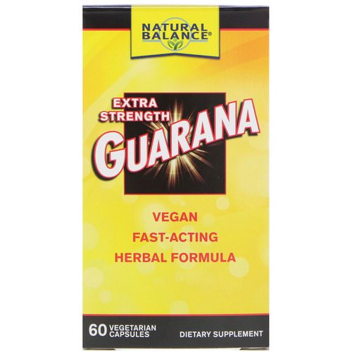 Natural Balance, Guarana, Extra Strength, 60 Vegetarian Capsules Review