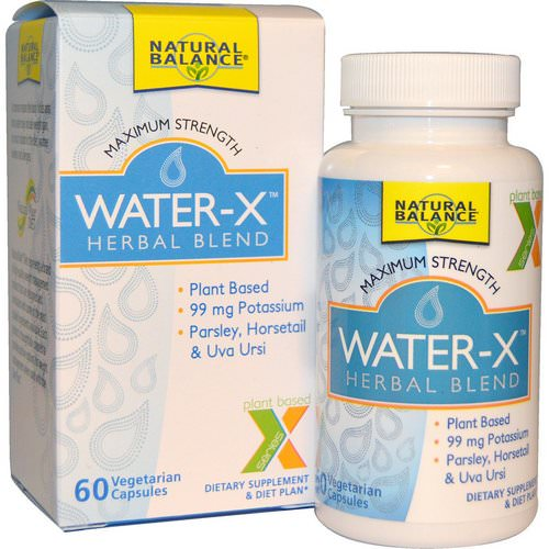 Natural Balance, Water-X, Herbal Blend, Maximum Strength, 60 Veggie Caps Review