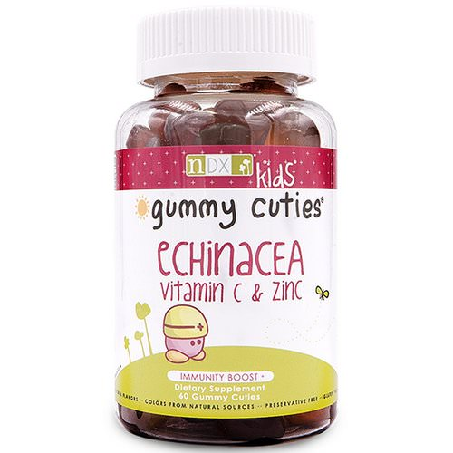 Natural Dynamix (NDX), Gummy Cuties, Kids Echinacea, Vitamin C & Zinc, 60 Gummy Cuties Review