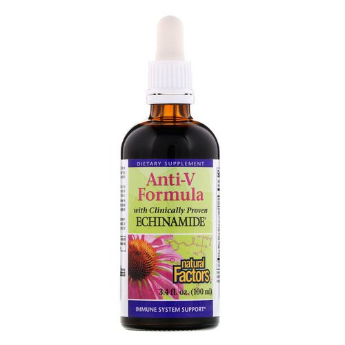 Natural Factors, Anti-V Formula, with Clinically Proven Echinamide, 3.4 fl oz (100 ml) Review
