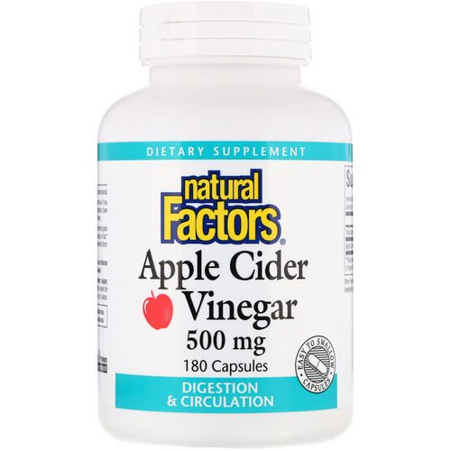 Natural Factors, Apple Cider Vinegar, 500 mg, 180 Capsules Review
