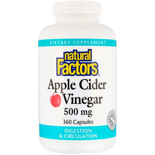 Natural Factors, Apple Cider Vinegar, 500 mg, 360 Capsules Review