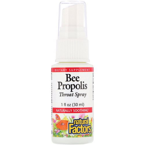 Natural Factors, Bee Propolis Throat Spray, 1 fl oz (30 ml) Review