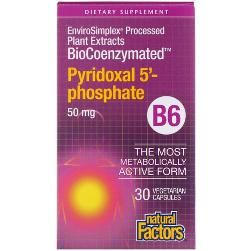 Natural Factors, BioCoenzymated, B6, Pyridoxal 5'-Phosphate, 50 mg, 30 Vegetarian Capsules Review