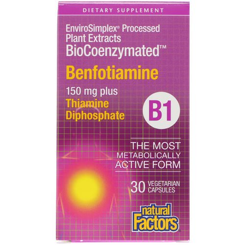 Natural Factors, BioCoenzymated, Benfotiamine, 150 mg, 30 Vegetarian Capsules Review
