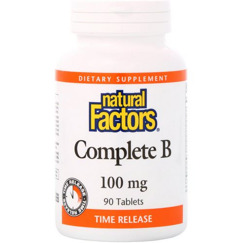 Natural Factors, Complete B, 100 mg, 90 Tablets Review