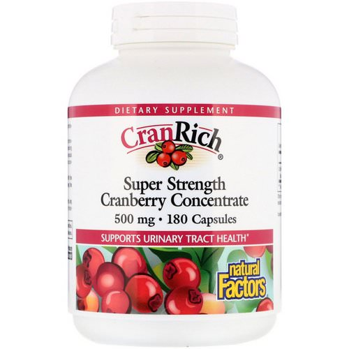 Natural Factors, CranRich, Super Strength, Cranberry Concentrate, 500 mg, 180 Capsules Review