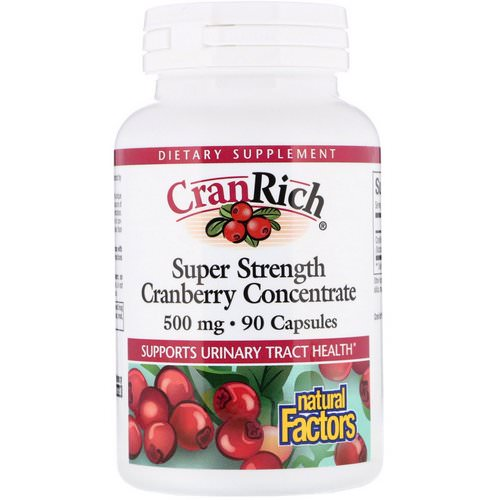 Natural Factors, CranRich, Super Strength, Cranberry Concentrate, 500 mg, 90 Capsules Review