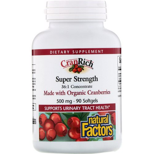 Natural Factors, CranRich, Super Strength, Cranberry Concentrate, 500 mg, 90 Softgels Review