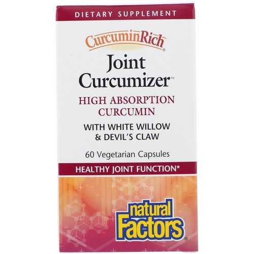 Natural Factors, CurcuminRich, Joint Curcumizer, 60 Vegetarian Capsules Review
