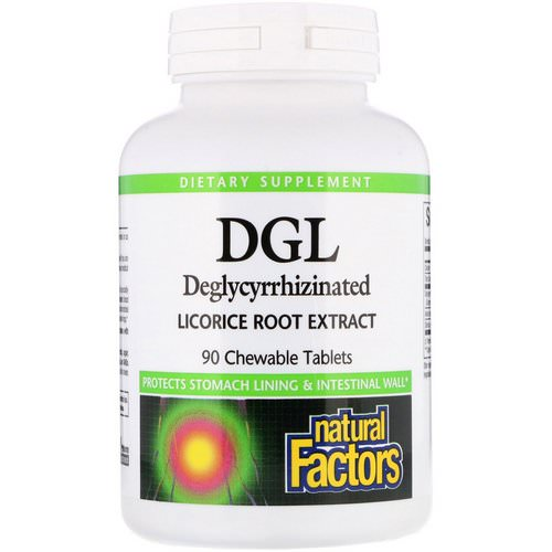 Natural Factors, DGL, Deglycyrrhizinated Licorice Root Extract, 90 Chewable Tablets Review