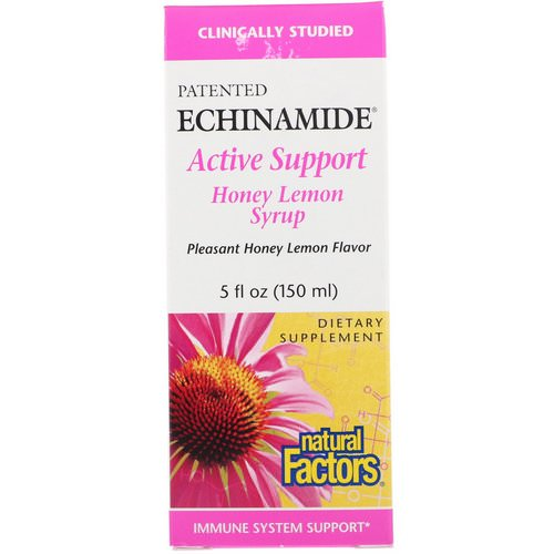 Natural Factors, Echinamide Active Support, Honey Lemon Syrup, 5 fl oz (150 ml) Review